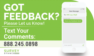 Feedback SMS Text Message